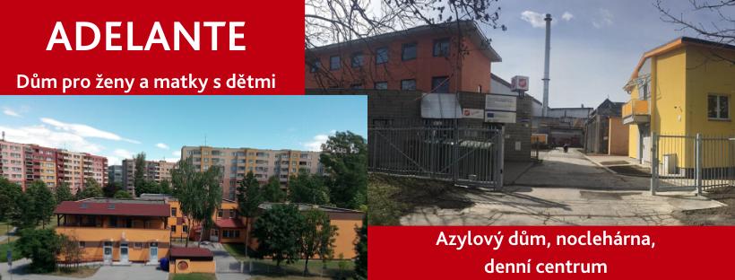 Adelante - sociální služby pro muže a ženy bez domova